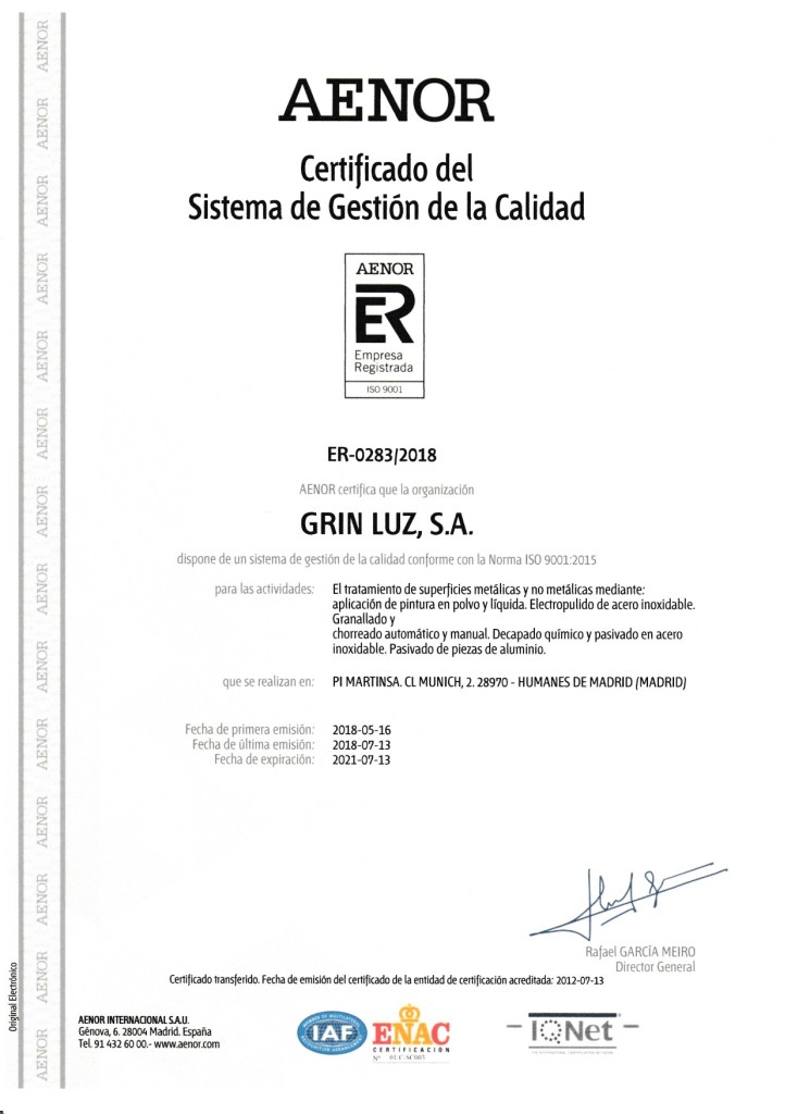 CERTF CALIDAD ESPAÑOL 001